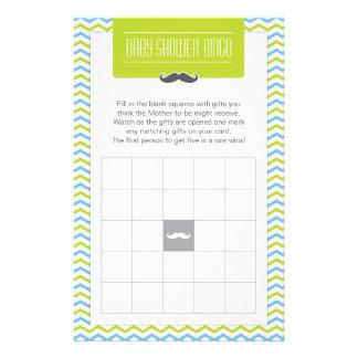 Bigote/pequeña tarjeta de juego del bingo de la papelería personalizada