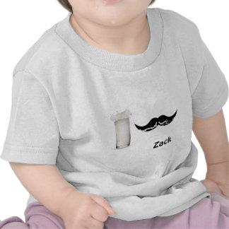 Bigote personalizado de la leche camisetas