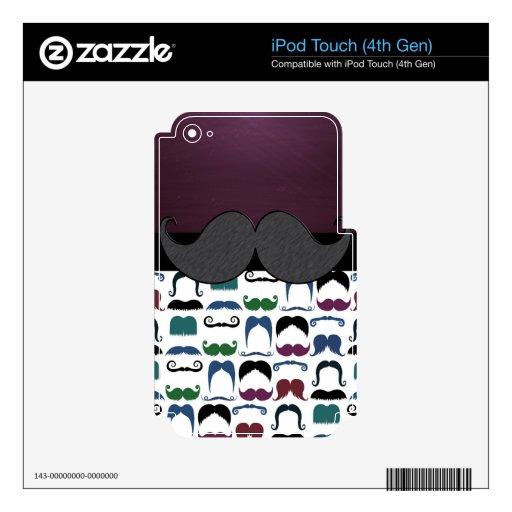 Bigote retro del bigote iPod touch 4G skin
