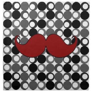 Bigote retro del bigote servilleta imprimida
