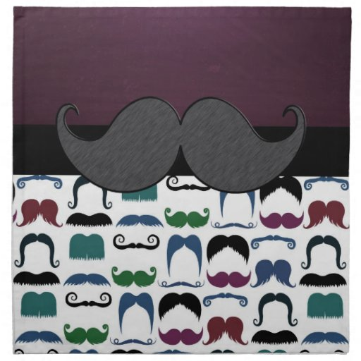 Bigote retro del bigote servilletas de papel