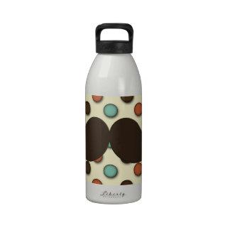 Bigote retro del manillar en modelo enrrollado botellas de beber