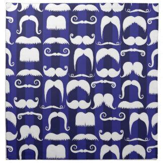 Bigote retro servilleta de papel