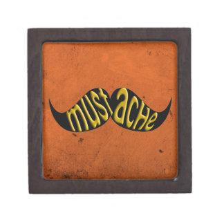 Bigote retro Stache del bigote Cajas De Joyas De Calidad