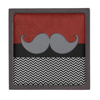 Bigote retro Stache del bigote Caja De Joyas De Calidad