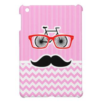 Bigote rosado de Chevron; Divertido iPad Mini Protectores