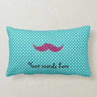 Bigote rosado del brillo almohadas