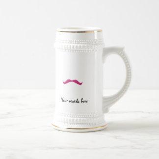 Bigote rosado del brillo tazas de café
