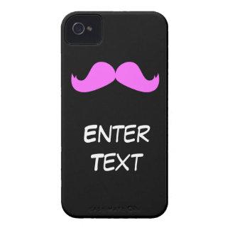 Bigote rosado - modifique su caso del iPhone para Case-Mate iPhone 4 Protectores