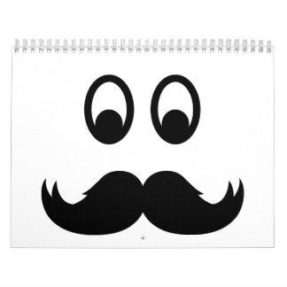 Bigote sonriente calendarios de pared