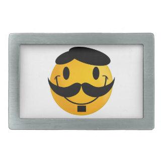 Bigote sonriente hebillas cinturón rectangulares