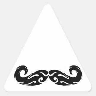 Bigote tribal pegatina triangular