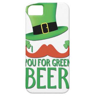 bigote usted para el trébol verde del bigote del iPhone 5 carcasas