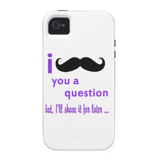 Bigote usted una plantilla de Qpc de la pregunta Vibe iPhone 4 Funda
