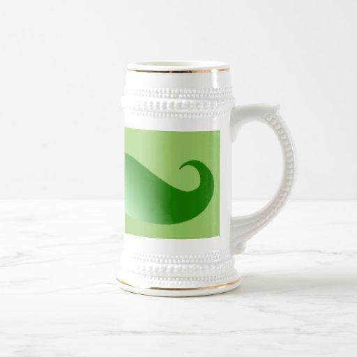 Bigote verde del irlandés del bigote jarra de cerveza