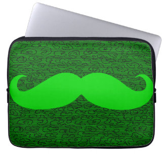 Bigote verde divertido mangas computadora