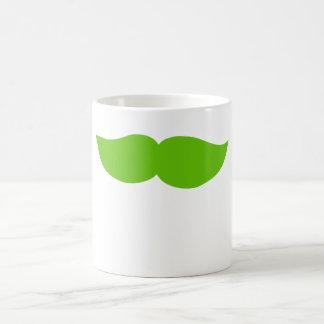 Bigote verde tazas