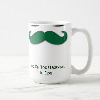 Bigote verde taza