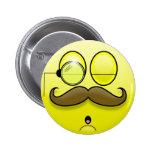 Bigote y botón de Smilie del monóculo Pin