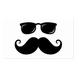 Bigote y cara divertidos de las gafas de sol tarjetas de visita