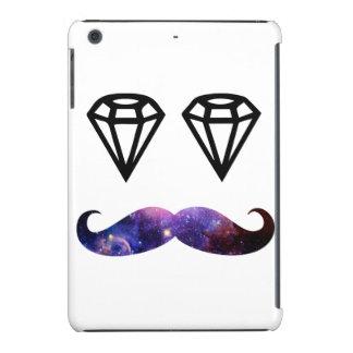 Bigote y diamantes carcasa para iPad mini
