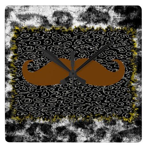 Bigote y estampado leopardo divertidos de Brown Reloj