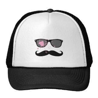Bigote y gafas de sol divertidos gorras