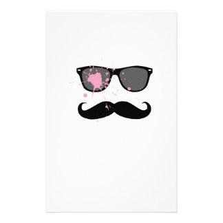 Bigote y gafas de sol divertidos personalized stationery