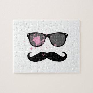 Bigote y gafas de sol divertidos rompecabeza