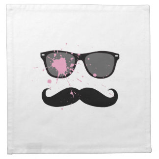 Bigote y gafas de sol divertidos servilletas