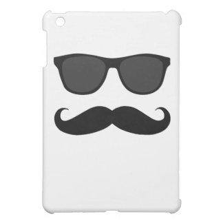 BIGOTE Y GAFAS DE SOL NEGROS DIVERTIDOS iPad MINI FUNDAS