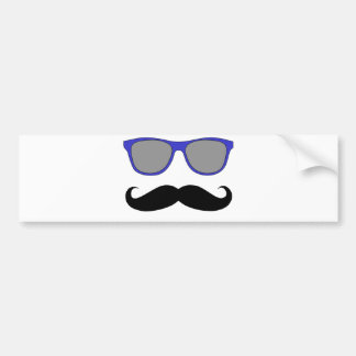 Bigote y humor azul de las gafas de sol pegatina para auto