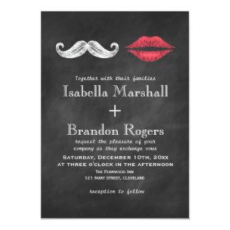 Bigote y labios que casan la invitación