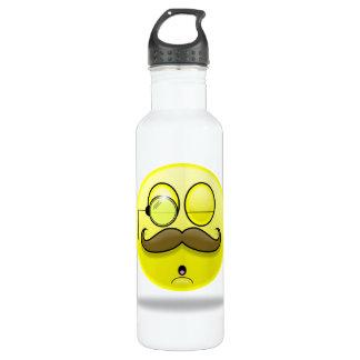 Bigote y monóculo Smilie Botella De Agua