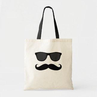Bigote y regalo negros del humor de las gafas de s bolsa de mano