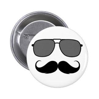 bigote y vidrios pins