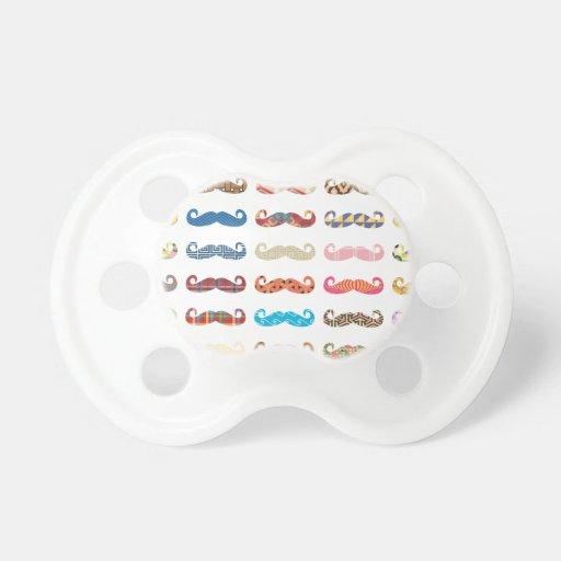 Bigotes coloridos chupetes para bebes