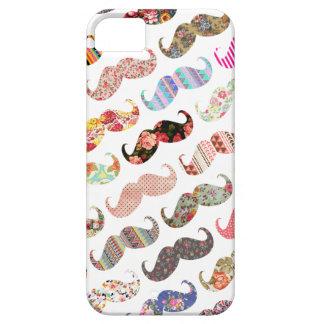 Bigotes coloridos femeninos divertidos de los iPhone 5 carcasa