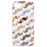 Bigotes coloridos femeninos divertidos de los mode iPhone 5 protectores