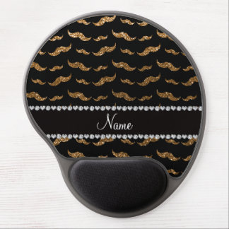 Bigotes conocidos personalizados del brillo del or alfombrillas de raton con gel