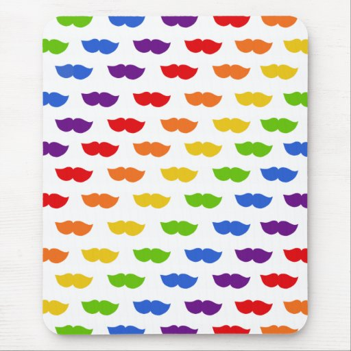 Bigotes del arco iris mouse pad