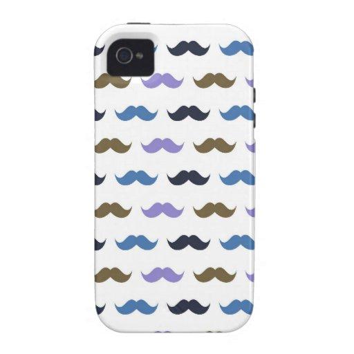 Bigotes del modelo w/Handlebar del bigote Case-Mate iPhone 4 Fundas