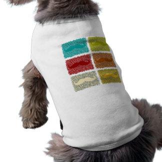 Bigotes divertidos playera sin mangas para perro