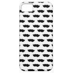 Bigotes negros de lujo iPhone 5 protectores