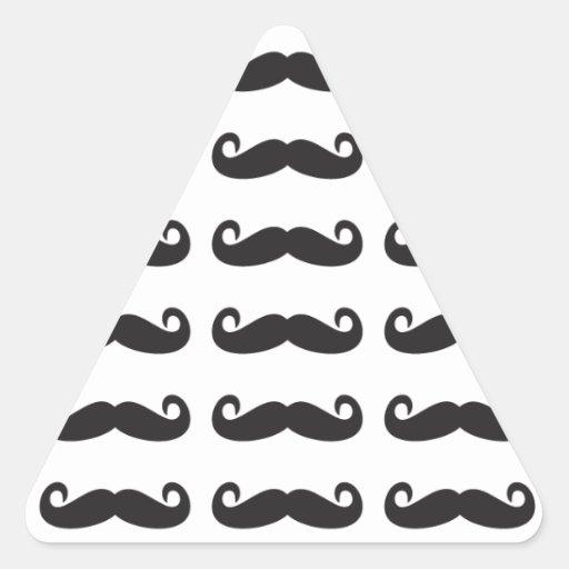 Bigotes Pegatina Triangular