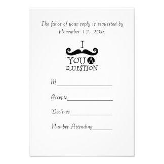 Bigotes R S V P Invitacion Personal