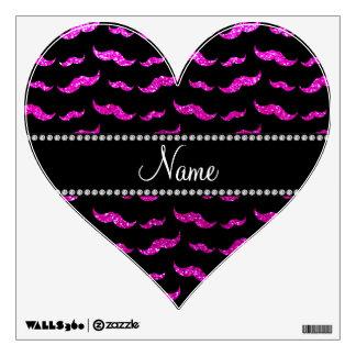 Bigotes rosados de neón conocidos personalizados d vinilo decorativo