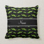 Bigotes verdes de neón conocidos personalizados de cojines