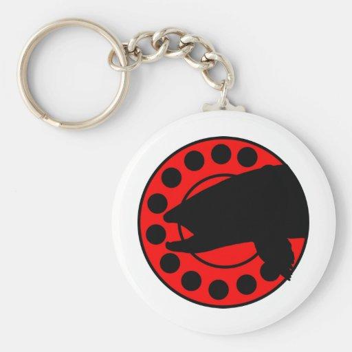 BigPigs Fly Fishing Reel Logo Key Chains