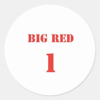 bigred1.jpg classic round sticker
